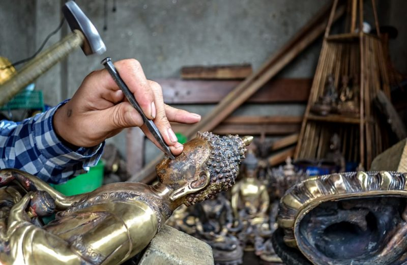 Herstellung der Statuen