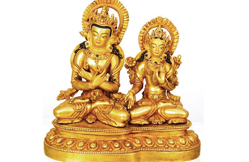 Statue Dorsche Tschang und Drölma Kar